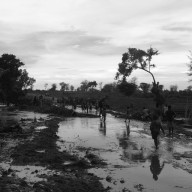 Flooded road, Malawi